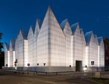 Filarmónica Szczecin de Anoche Iluminación Arquitectónica
