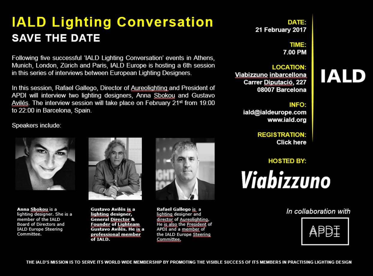 IALD Lighting Conversation Barcelona