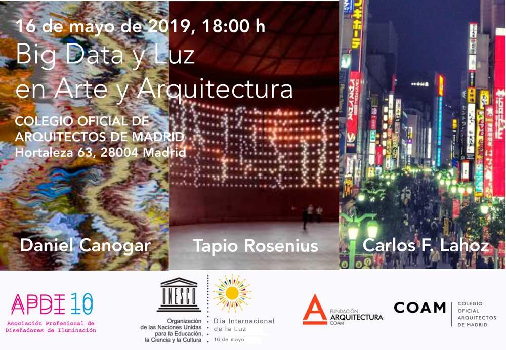 """APDI celebra el Día Internacional de la Luz con la conferencia """"Big Data y Luz en Arte y Arquitectura"""""""