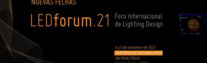 LEDforum.21 se retrasa a noviembre